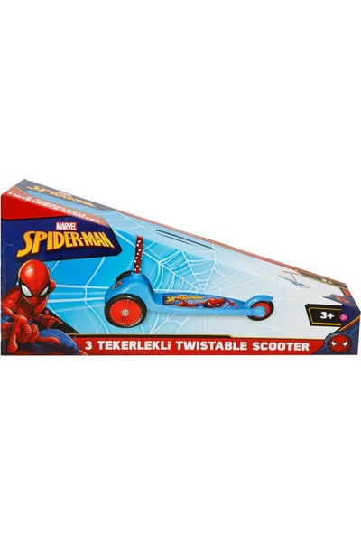 Spiderman 3 Tekerlekli Frenli Twistable Çocuk Scooter