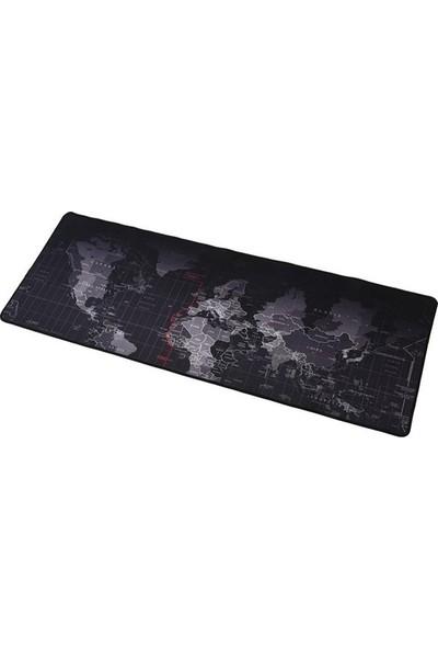 Realx 70x30cm Dünya Haritası Desenli Mouse Pad
