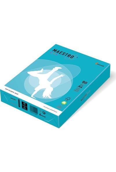 Maestro AB48 A4 Renkli Fotokopi Kağıdı 80 gr Koyu Mavi