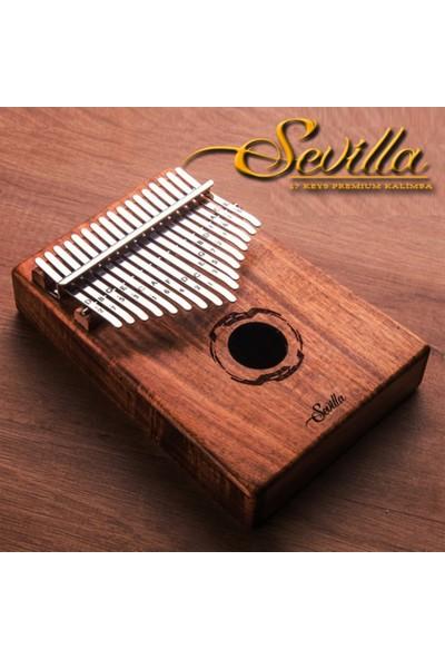 Sevilla 17 Tuşlu Premium Kalimba Maun Ağacı Model 1