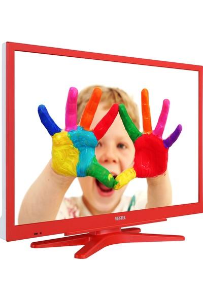 """Vestel 22F8500 22"""" 55 Ekran Uydu Alıcılı Full HD TV Kırmızı"""