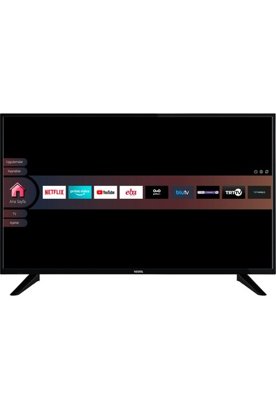 "Vestel 43F9401 43"" 108 Ekran Uydu Alıcılı Full HD Smart LED TV"