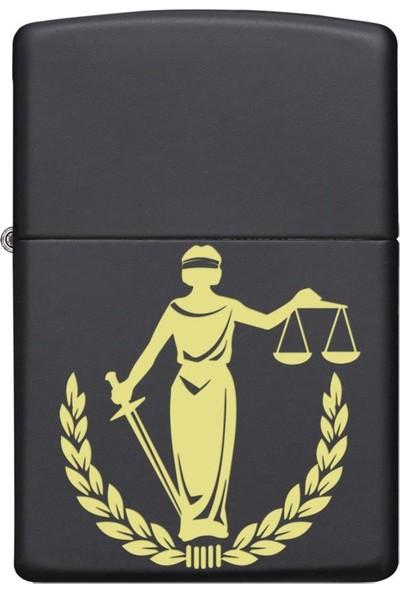 Zippo Özel Seri Zippo Çakmak Adalet Tanrıçası Themis Siyah