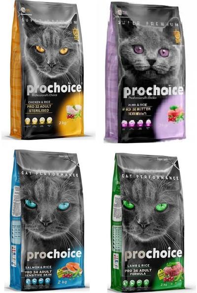 Pro Choice Mix Kedi Maması 2 kg x 4 Adet = 8 kg