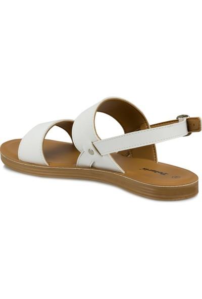 Polaris 315684.Z Beyaz Kadın Sandalet