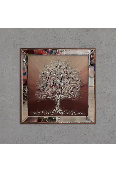 Atl Dekor Izabel Altın Ağaç Mozaik Ayna 60 x 60 cm