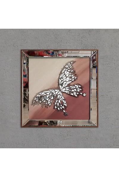 Atl Dekor Izabel Altın Kelebek Mozaik Ayna 60 x 60 cm
