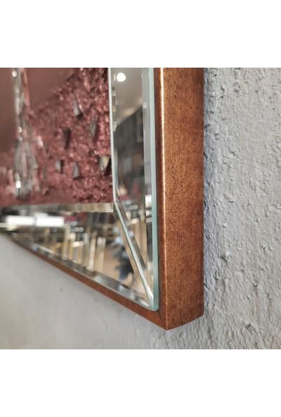Atl Dekor Izabel Altın Yonca Mozaik Ayna 60 x 60 cm