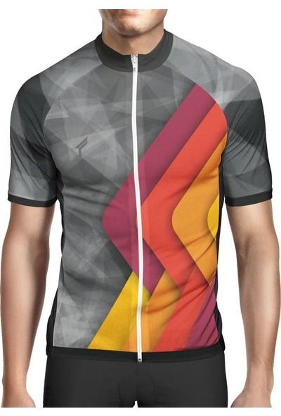 Freysport Retro Bisiklet Forması Kısa Kol, Turuncu