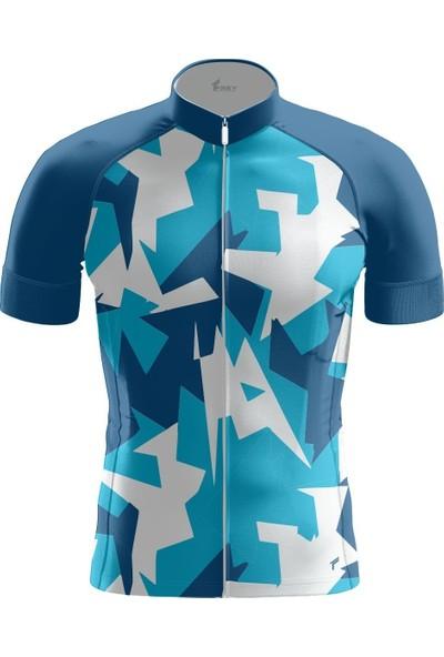Freysport Ruscham-07 Bisiklet Forması Kısa Kol - Mavi Beyaz