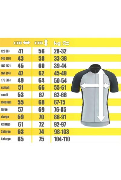 Freysport Skull-10 Bisiklet Forması Uzun Kol - Siyah, Beyaz