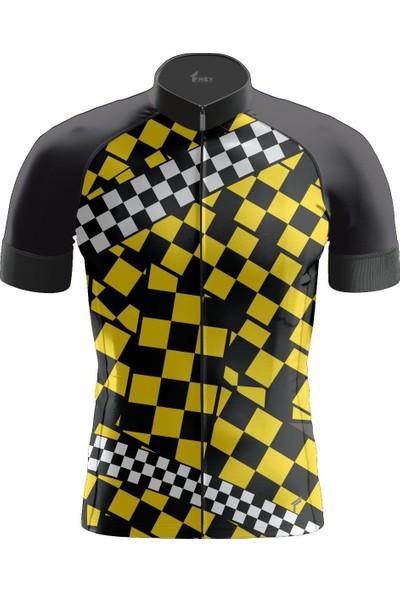 Freysport Chess-06 Bisiklet Forması Kısa Kol - Siyah Sarı