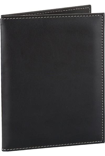 2K Suni Deri Hesap Kabı 14 x 20 cm Siyah