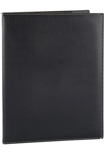 2K Suni Deri Menü Kabı 23 x 32 cm Siyah