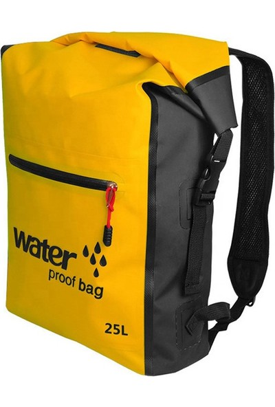 Yukka 25L Açık Su Geçirmez Yüzme Çanta Sırt Çantası Kova Kuru Çuval Saklama Çantası Rafting Spor Seyahat Su Geçirmez Çanta