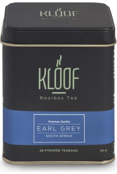 Kloof Rooibos Tea Earl Grey Rooibos Tea - Bergamut Aromalı Roybos Çayı 20'li Biodegradable Piramit Poşet 60 gr