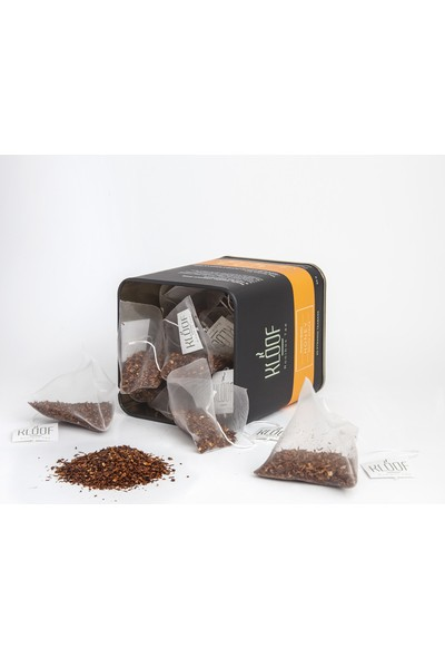 Kloof Rooibos Tea Honey Rooibos Tea - Bal Aromalı Roybos Çayı 20'li Biodegradable Piramit Poşet 60 gr