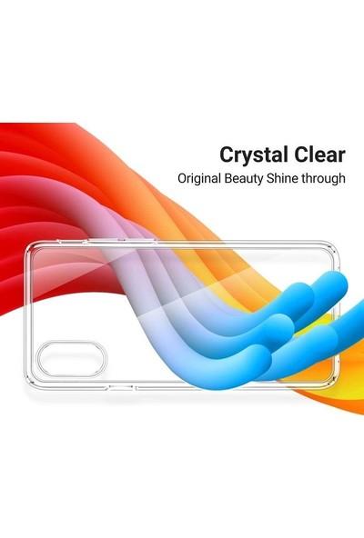 Engo Samsung Galaxy A40 Kılıf Kamera Korumalı Silikon Şeffaf Silikon