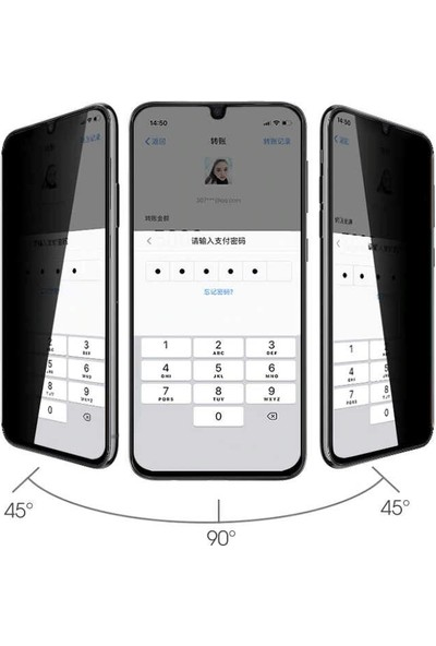 Teleplus Realme 5i Hayalet Privacy Gizli Tam Kapatan Cam Siyah