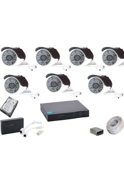Promise 7 Kameralı Güvenlik Sistemi 4 Mp 48 LED Metal Kasa Harddisk Dahil