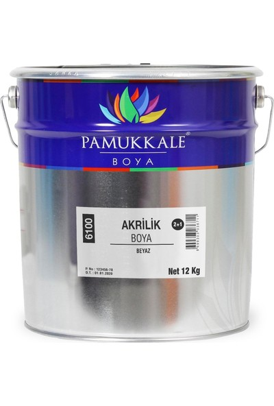 Pamukkale Akrilik Boya 2+1 Takım 18 kg Gri