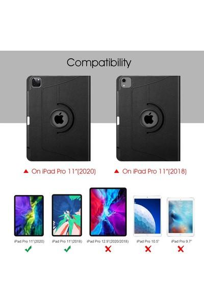 Fujimax ipad Pro 11 2020 360 Derece Döner Standlı Kılıf 2. Nesil A2228 A2068 A2230 A2231 Seri 3 Kameralı