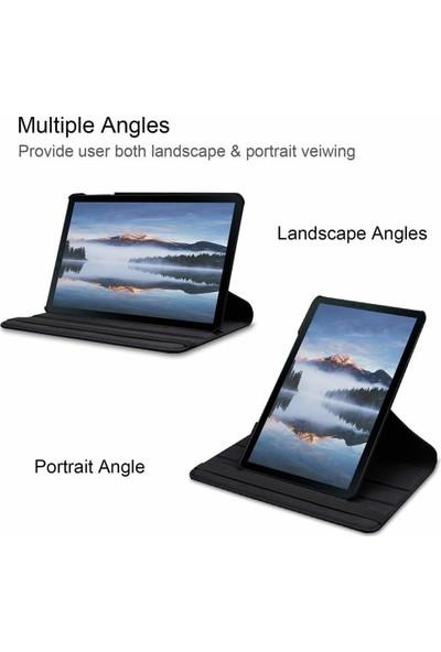 FUJİMAX Samsung P610 P615 P617 S6 Lite 360 Derece Döner Standlı Kılıf + 9H Temperli Kırılmaz Ekran Koruyucu