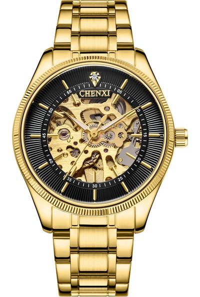 Yukka Erkek Otomatik Altın Kol Saati