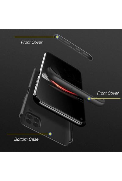 Gpack Huawei P40 Lite Kılıf Ays 3 Parçalı Full Korumalı Sert Kapak Bordo