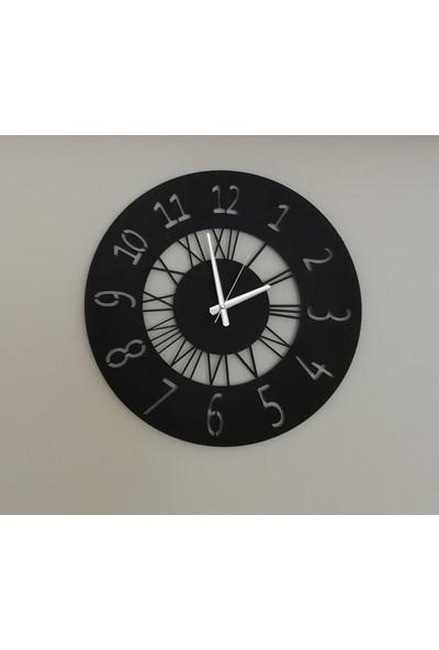 H&K Dekoratif Lazer Kesim Metal Duvar Saati Sentez