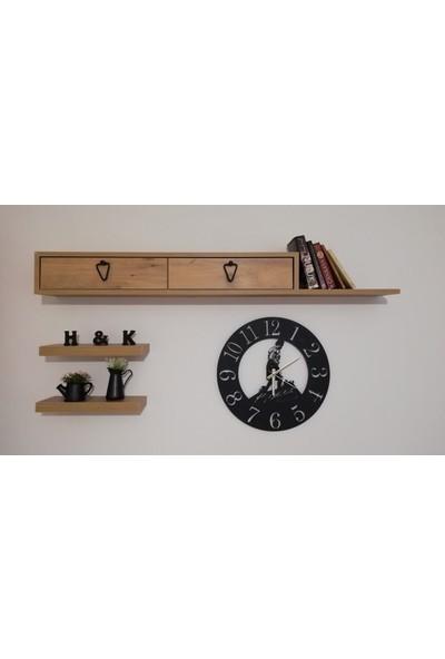 H&K Dekoratif Lazer Kesim Metal Duvar Saati Kocatepe