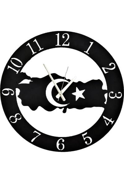 H&K Dekoratif Lazer Kesim Metal Duvar Saati Türkiye