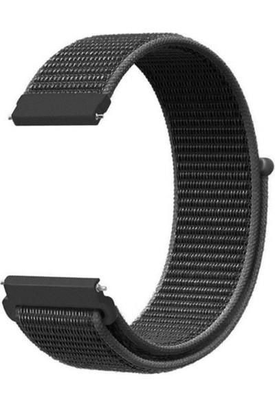 Gpack Huawei Watch GT 2E 46mm Kordon Kumaş CırtCırt Kordon Velcro Koyu Yeşil