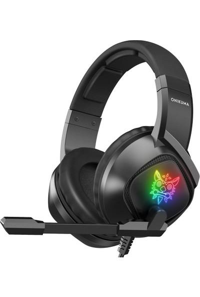Ouni Rgb Renkli Parlayan Kablolu Oyun Kulaklığı Mikrofonlu (Yurt Dışından)
