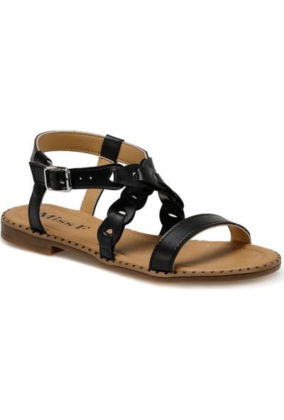 Miss F DS20020 Siyah Kadın Sandalet