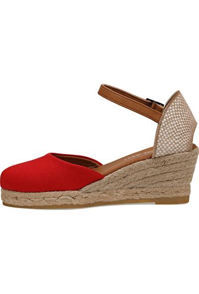 Nine West Elısabetta Kırmızı Kadın Dolgu Topuk Sandalet