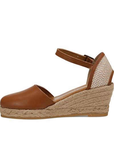 Nine West Frıda Taba Kadın Dolgu Topuk Sandalet