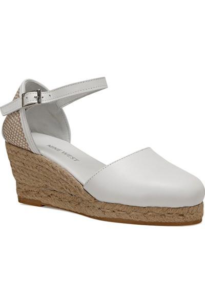 Nine West Frıda Beyaz Kadın Dolgu Topuk Sandalet