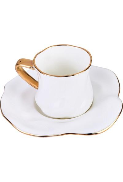 Karaca Tev Beyaz 2 Kişilik Kahve Fincan Takımı Kutulu