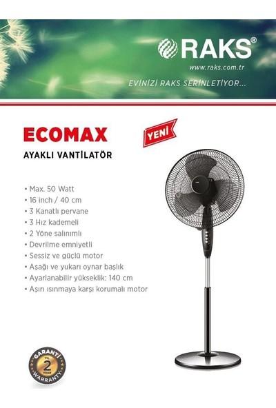 Raks Eco Max Ayaklı Vantilatör 50W