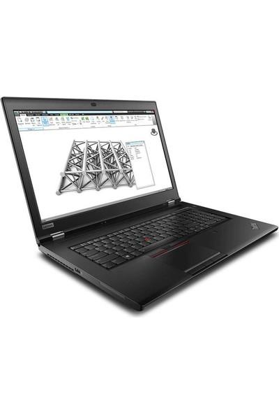 """Lenovo MWS P73 Intel Core i7 9750H 64GB 1TB SSD + 1TB SSD Quadro T2000 Windows 10 Pro 17.3"""" FHD Taşınabilir Bilgisayar 20QR003MTX08"""