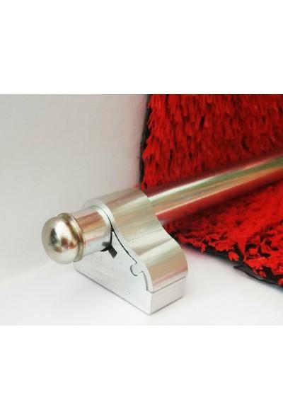 Forfloor Merdiven Halı Dip Çubuğu Takımı Kalın Ayak Gümüş 90cm