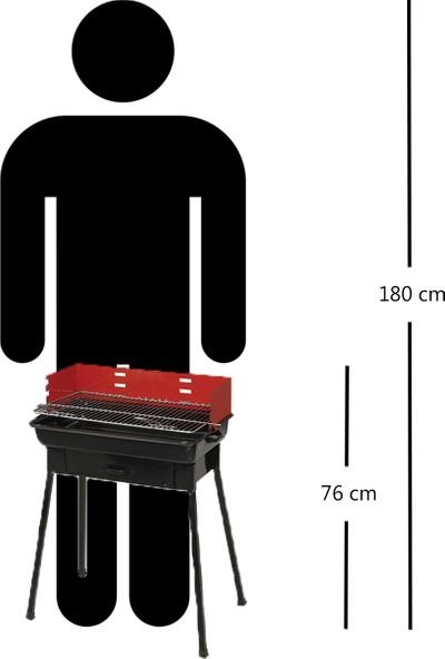 MMS Midi Grill Ayaklı Emaye Büyük Mangal