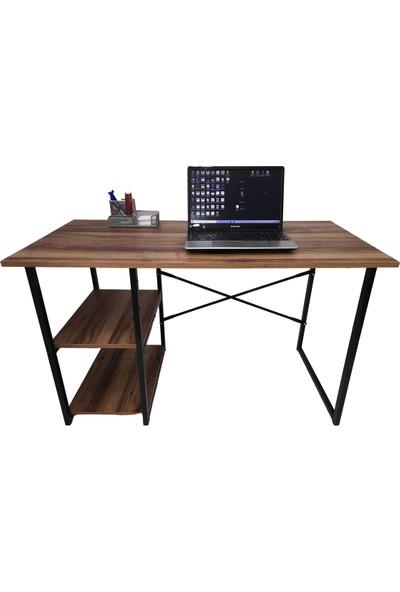 Asrimo Raflı Çalışma Masası Ofis Bilgisayar Masası Ceviz