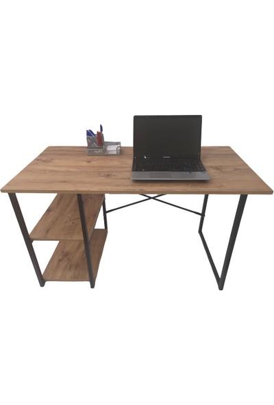 Asrimo Raflı Çalışma Masası Ofis Bilgisayar Masası Atlantik Çam