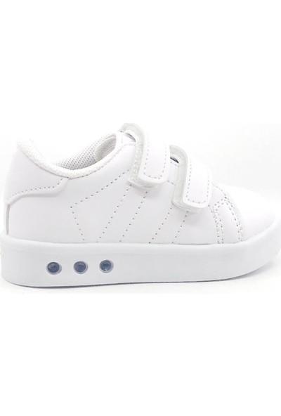 Cool 19-K23 Kız Çocuk Beyaz Işıklı Günlük Spor Ayakkabı