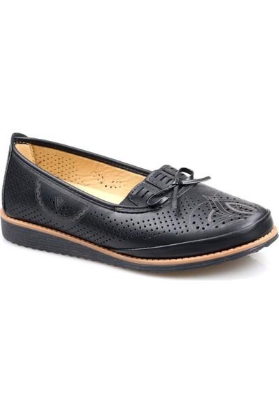 Wanetti 152 Ortapedik Siyah Günlük Kadın Ayakkabı