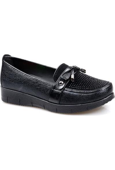Wanetti 225 Ortapedik Siyah Günlük Kadın Ayakkabı