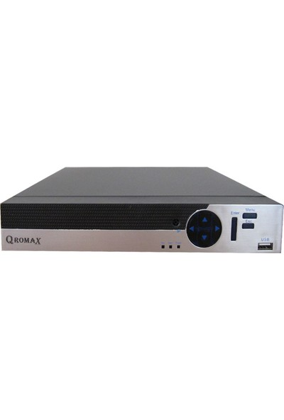 QROMAX PRO 9008 Hybrid 8 Kanal H265 1080N 5MP Dvr Kayıt Cihazı