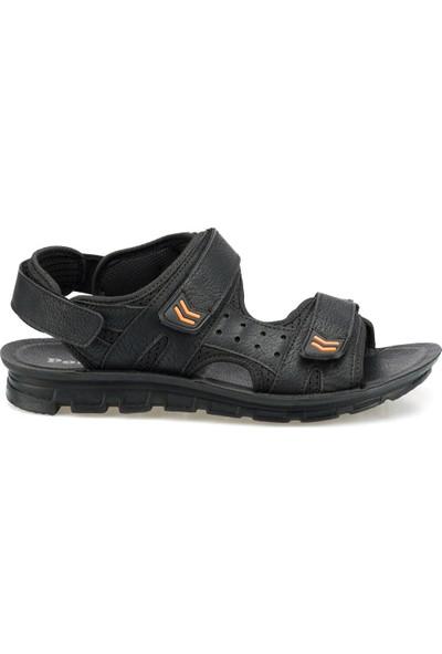 Polaris 160240.M Siyah Erkek Sandalet